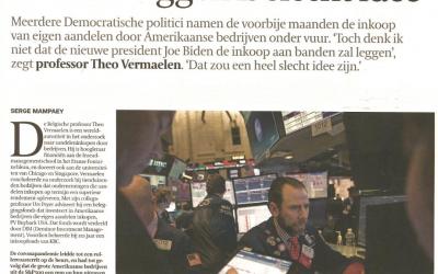 Theo Vermaelen interview in De Tijd